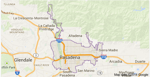 pasadena map - Google Search